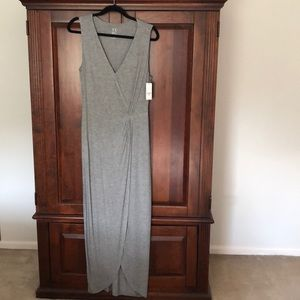 Soft Grey sleeveless maxi dress